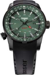 Часы Traser P68 Pathfinder GMT Green, каучук 109744